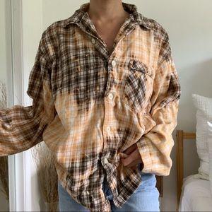 Bleached Gap Button Down Flannel Shirt